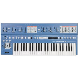 UDO Audio Super 6 12-Voice Polyphonic Analog-Hybrid Synth w/ FM & Wavetable (Blue)