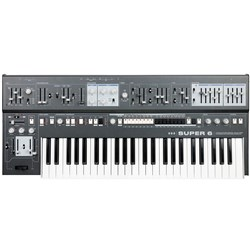 UDO Audio Super 6 12-Voice Polyphonic Analog-Hybrid Synth w/ FM & Wavetable (Grey)