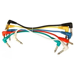 UXL PJ-03R Patch 6pk Cable with right angle plugs - 1-foot