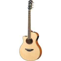 Yamaha APX700II Thin-Line Left-Hand Acoustic w/ Solid Top & Cutaway (Natural)