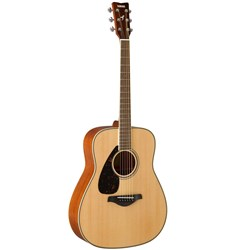 Yamaha FG820 Acoustic Dreadnought w/Solid Spruce Top (Natural, Left-Handed)