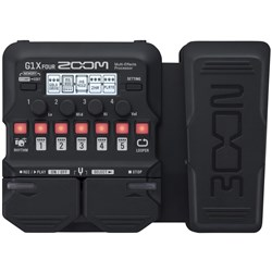 Zoom G1X FOUR Guitar Multi-Effects Pedal w/ Expression Pedal