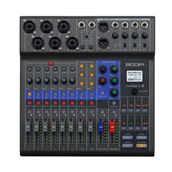 Zoom LiveTrak L-8 Digital Podcast Mixer & Recorder
