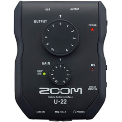 Zoom U22 2-In/2-out Handy Audio Interface