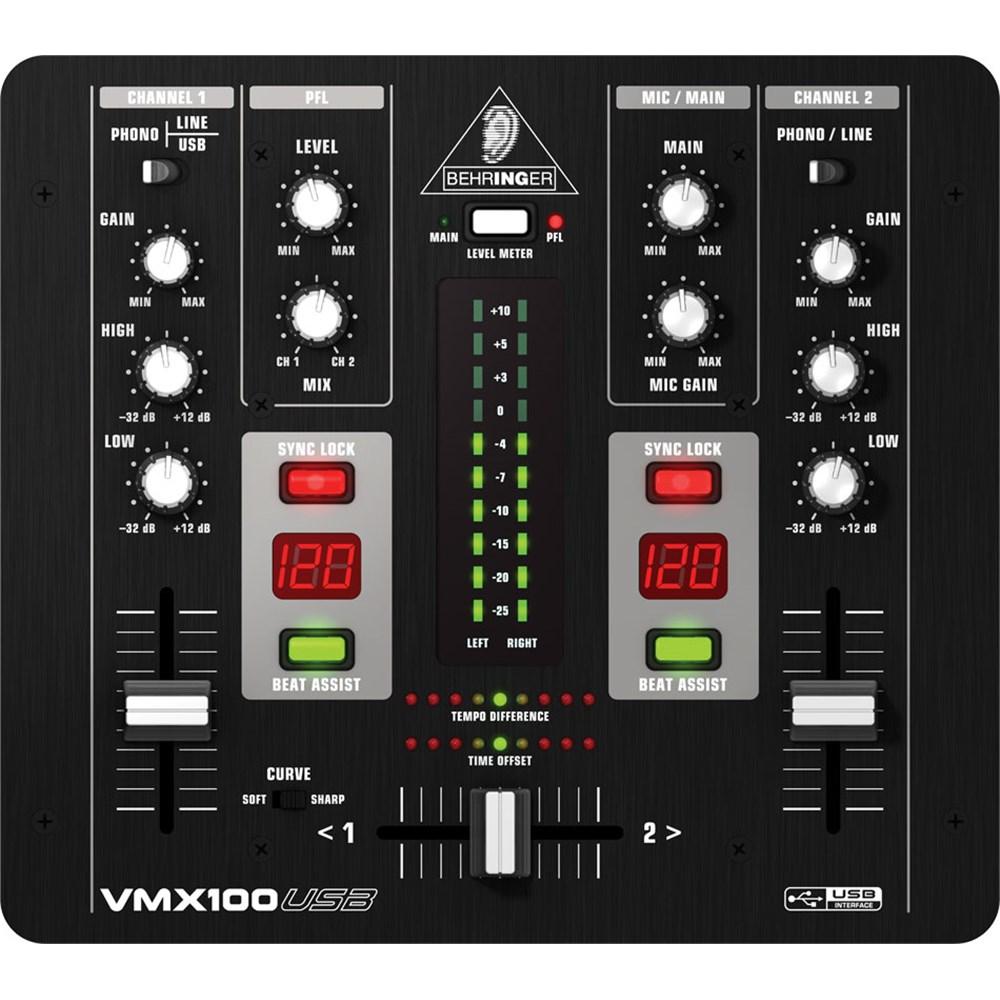 Behringer VMX100USB DJ Mixer w/ USB
