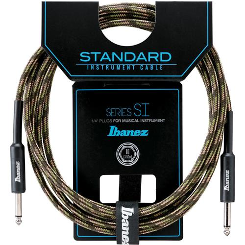Ibanez SI20 CGR Straight to Same Guitar Cable (20ft) (Camo Green)