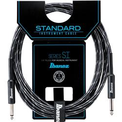 Ibanez SI20 CCT Woven Guitar Cable w/ 2 Straight Plugs - 20ft (Charcoal Grey)