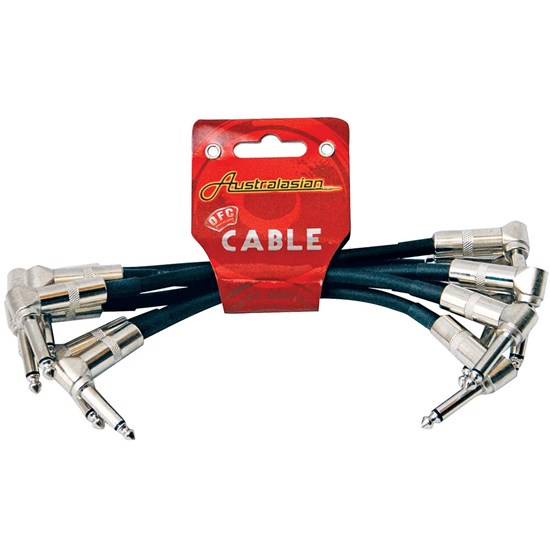 Australasian AMS615 Patch Cable 6-Pack w/ Right Angle Jacks (6 Inch)