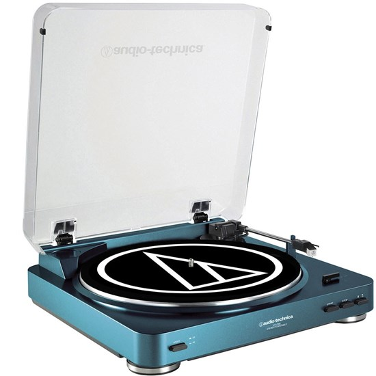 Audio Technica LP60 Fully Automatic Belt-Drive Stereo Turntable (Blue)