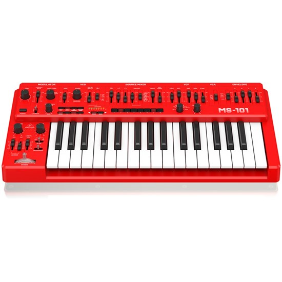 Behringer MS101 Analog Synth w/ 32 Full-Size Keys & 3340 VCO (Red)