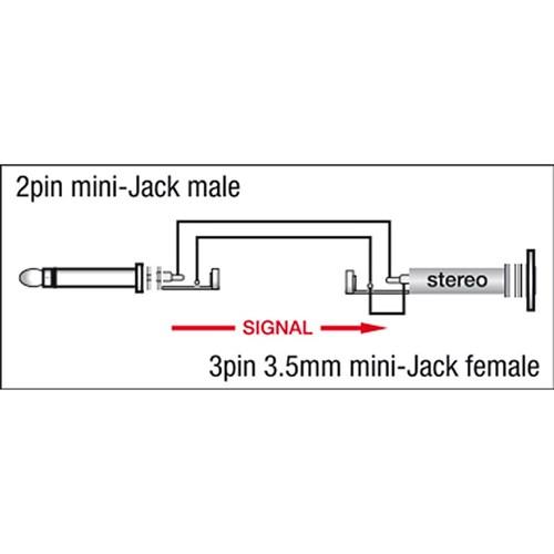 dap audio xga-07 xcaliber series 3 5mm trs(f) to 3 5mm