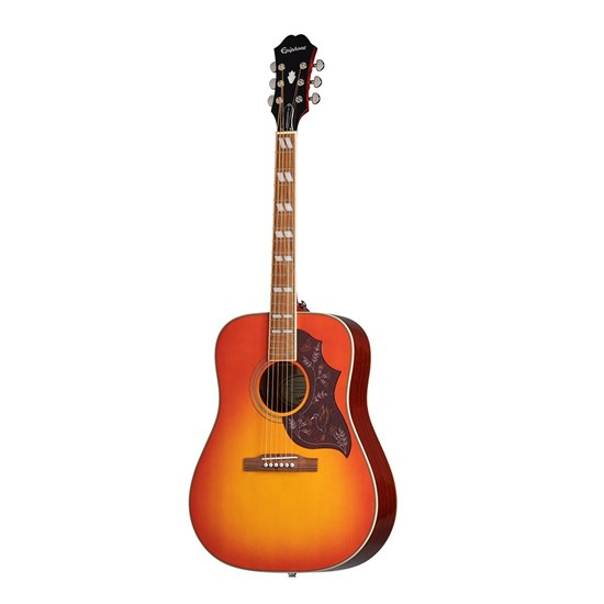 Epiphone Hummingbird Pro Acoustic Guitar w/ Solid Top & EEHBFCNH1 (Faded Cherry Burst)