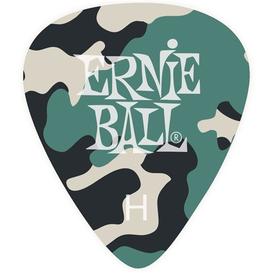 Ernie Ball 9223 Camouflage Cellulose Bag of 12 Picks (Heavy)