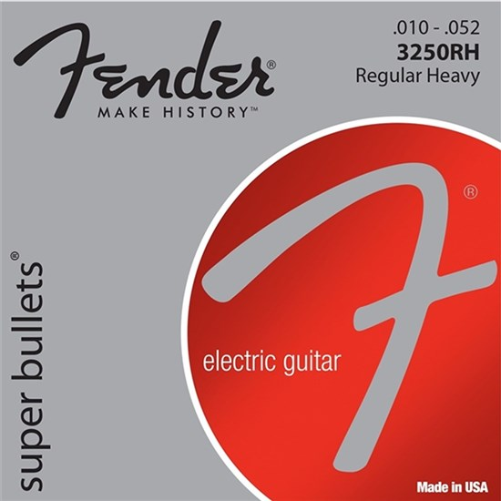 Fender 3250RH Super Bullets Nickel Plated Steel Bullet End Electric Strings (10-52)