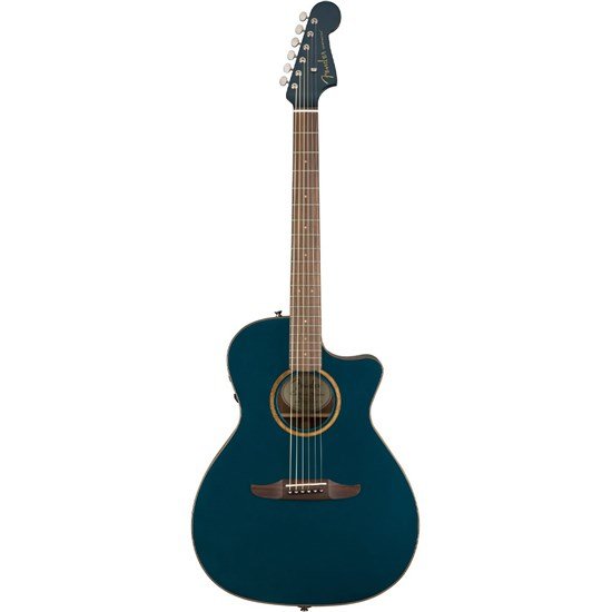 Fender California Newporter Classic Acoustic Guitar w/ Pickup (Cosmic Turquoise)
