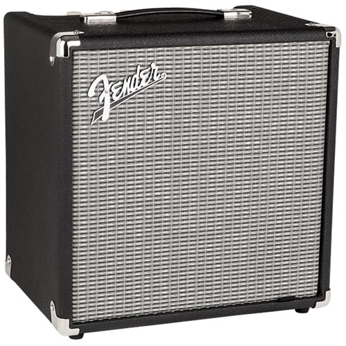 Fender Rumble 25 V3 Bass Guitar Practice Amplifier w/ Overdrive Circuit (25 Watts)