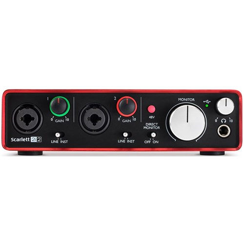 Focusrite Scarlett 2i2 USB Audio Interface w/ Pro Tools & Ableton Live (Generation 2)