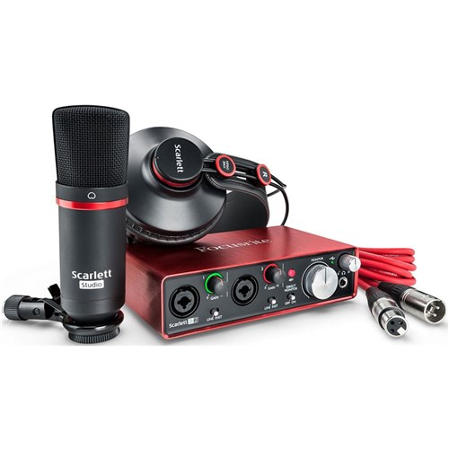 Focusrite Scarlett 2i2 Studio Package w/ Pro Tools & Ableton Live (Generation 2)