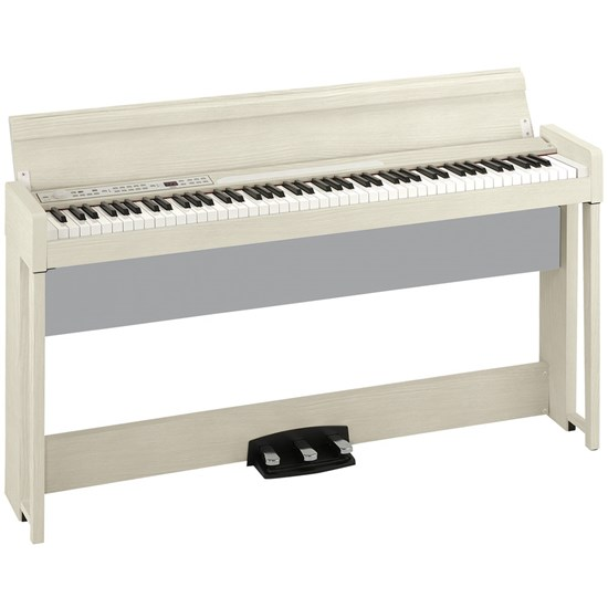 Korg C1 Air Digital Piano w/ RH3 Real Weighted Hammer Action Keyboard (White Ash)