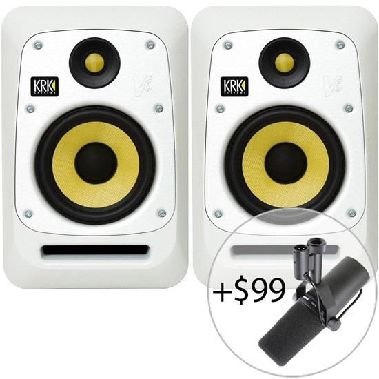 "KRK V6 S4 Powered 6"" Studio Monitors (Pair) (White Noise)"