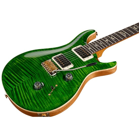 PRS Custom 24 10 Top Core Electric w/ Pattern Thin Neck in Hard Case (Emerald)