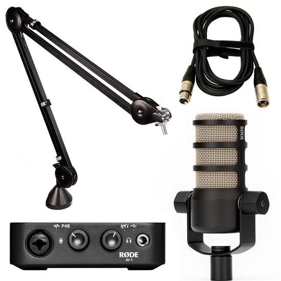 ROD-PK-PODMIC - Rode PodMic Pack w/ AI1, PSA1 & XLR Cable (3m) // Mannys  Music