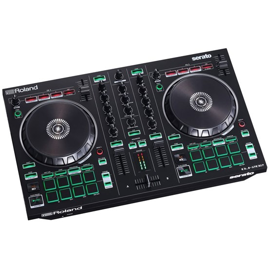 Roland DJ202 Serato DJ Intro Controller w/ Large Platters Optimized for Scratching