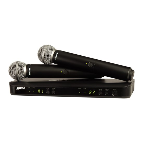 shure blx288 sm58 dual wireless mic system m17 handheld systems mannys. Black Bedroom Furniture Sets. Home Design Ideas