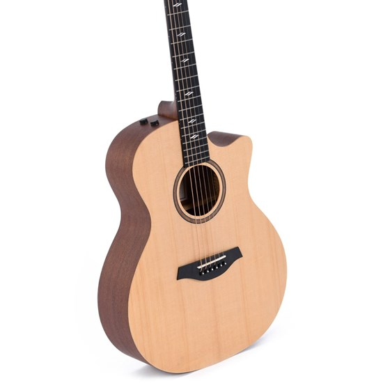 Sigma GMCE-1+ Grand OM Acoustic Guitar w/ Solid Spruce Top, Cutaway & Pickup