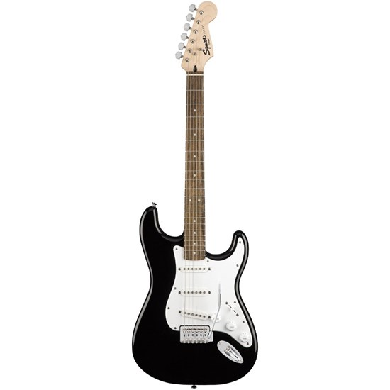 Squier Stratocaster Pack w/ Laurel Fingerboard (Black) w/ Bag & Frontman 10G