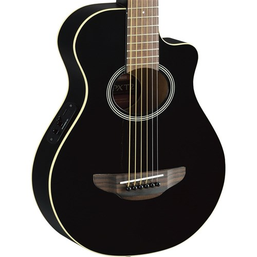 Yamaha APXT2 3/4 Size Acoustic Guitar w/ Cutaway & Pickup in Gig Bag (Black)