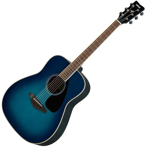 Yamaha FG820 Acoustic Dreadnought w/Solid Spruce Top (Sunset Blue)