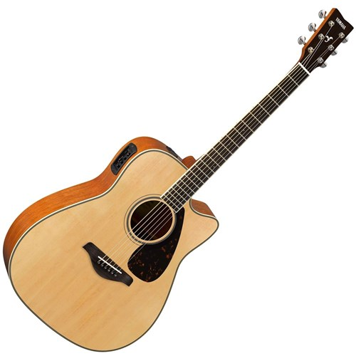 Yamaha FGX820C Electric-Acoustic Dreadnought w/Cutaway (Natural)