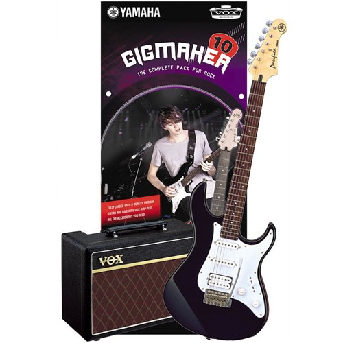 Yam Gigmaker10bl Yamaha Gigmaker 10 Electric Guitar Pack Black