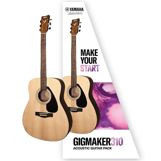 Yamaha Gigmaker 310 Acoustic Guitar Pack w/ F310 Guitar, Clip-On Tuner, Gig Bag, Picks