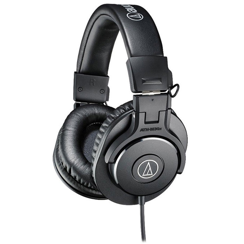 audio technica ath m30x studio headphones black studio monitoring headphones mannys. Black Bedroom Furniture Sets. Home Design Ideas