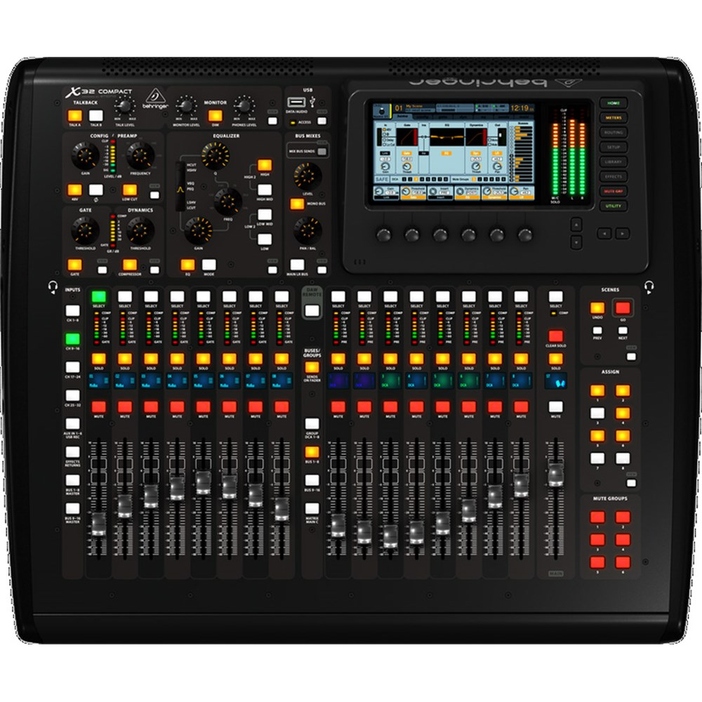 behringer x32 compact digital mixer digital mixers mannys. Black Bedroom Furniture Sets. Home Design Ideas