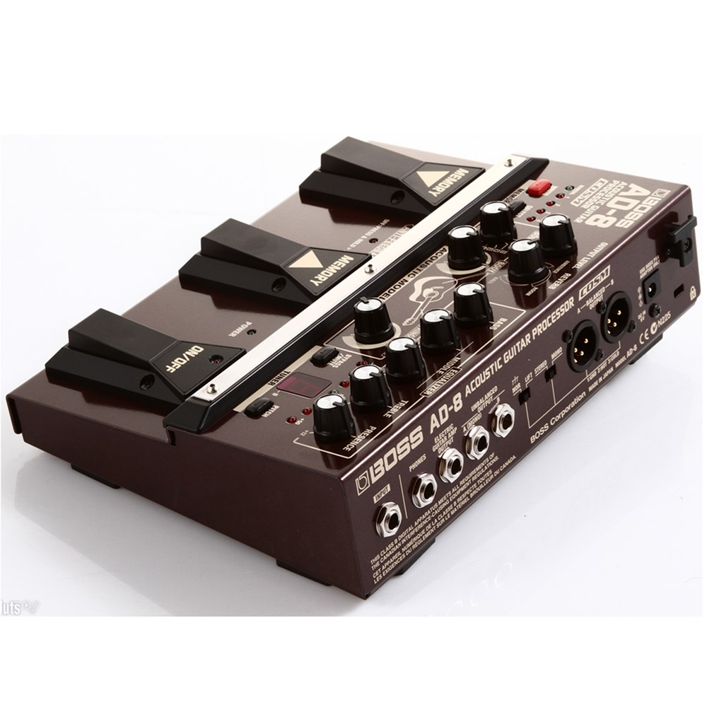 boss ad8 acoustic guitar processor pedal multi effects pedals mannys. Black Bedroom Furniture Sets. Home Design Ideas