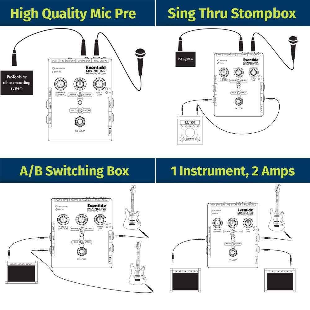 Evn Mixinglink Eventide Mic Preamplifier Fx Loop Stomp Box Switch Wiring Diagram Prev