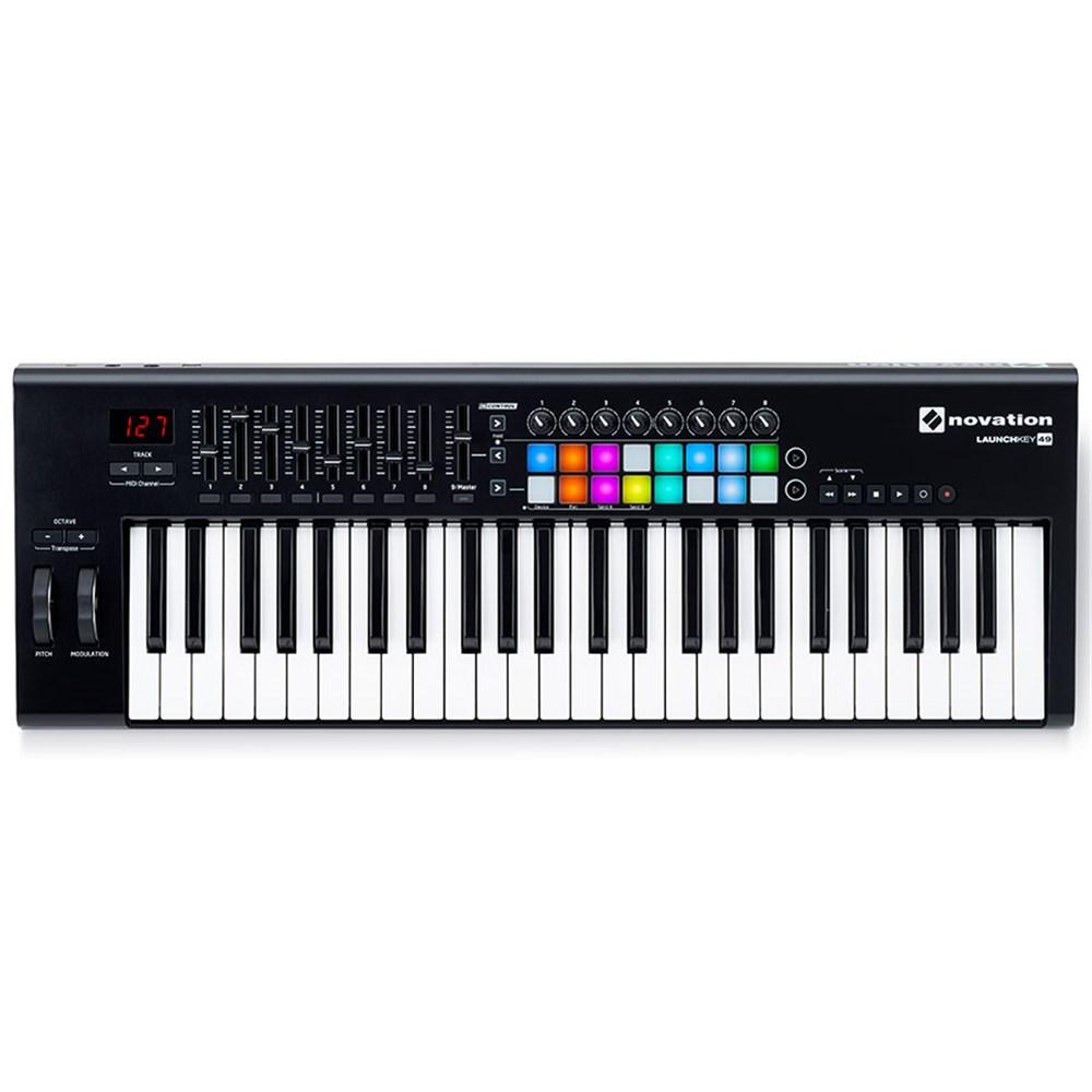 novation launchkey 49 mk2 key performance ios controller midi keyboards mannys. Black Bedroom Furniture Sets. Home Design Ideas