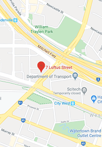 Location map of Mannys Perth